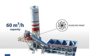 новый бетонный завод SEMIX Mobile 60S4 Concrete Mixing Plant