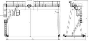 новый козловой кран двухбалочный бесконсольный A10